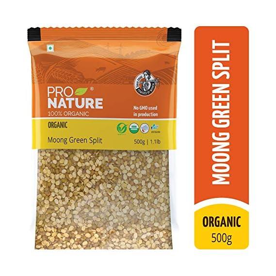 Pro Nature 100% Organic Moong Green Split, 500g