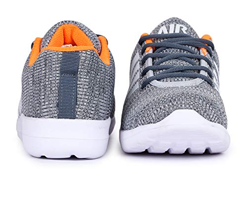 TRASE SRV Relax Grey-Orange Sports Shoes for Boys-3C IND/UK