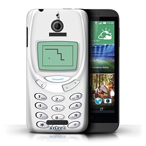 Kobalt® Imprimé Etui / Coque pour HTC Desire 510 / Nokia 8210 jaune conception / Série Portables rétro Nokia 3310 blanc
