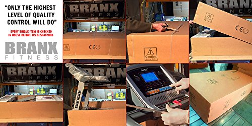51Std48QNuL - Branx Fitness Foldable 'Elite Runner Pro' Soft Drop System Treadmill - 6.5HP Motor 0-22 Level Auto Incline - 'Dual Shock 10-Point Absorption System