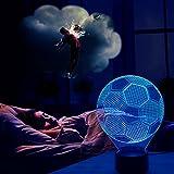 Jingxu 3D-Fußball-Tischlampe, leuchtet in 7 Farben