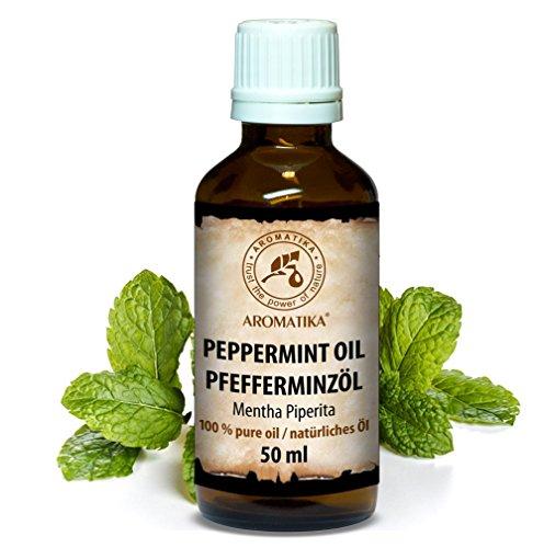 Aceite de Menta 50 ml - 100% Puro y Natural - Menta Piperita - De AROMATIKA