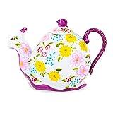 Artvigor, Porzellan Tee Kaffee Kanne, Handbemalt, Schnecke Design, Geschenk für Weihnachten, Geburtstag