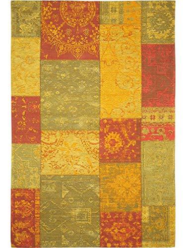 Benuta Flachgewebe Teppich Frencie Patchwork Grün 120x180 cm/Pflegeleichter Teppich für Flur und Andere Wohnräume