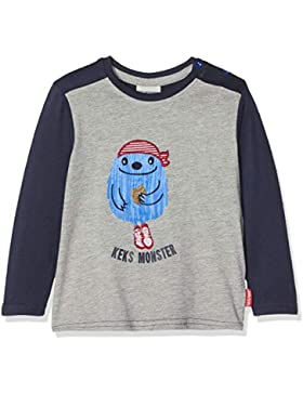 SALT AND PEPPER Baby-Jungen Langarmshirt B Longsleeve Monster Keks