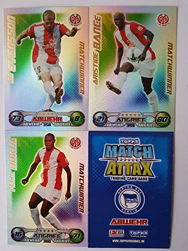 Match Attax Topps 2009 2010 - Trading Cards alle 3 Matchwinner: Mainz - Svensson, Bancé, Borja (Topps-fußball-2010)