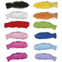 50 plumas artesanales para decorar carnaval accesorios decoración Río Samba