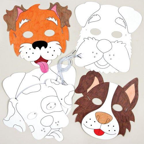 """Bastelsets für Pappmasken mit Tiermotiven """"Hund"""" für Kinder zum Basteln, Gestalten und Verkleiden (6 (Kostüm Diy Künstler)"""