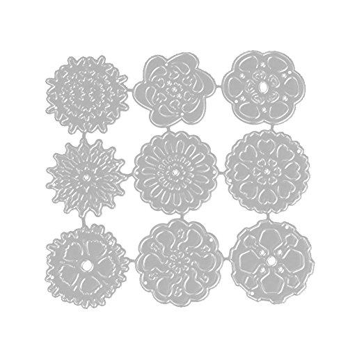ONEVER Stanzformen Muster Rechteck-Form Dekorative Karten Kanten Metallschablone f¨¹r Gru?karte Abdeckung Embossing Stencils DIY Scrapbooking Album