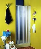 Nischenfalttür | Nischendusche | Duschfalttür | Nürnberg | PVC transparent | 80-100x 185 cm, weiss