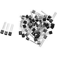 ILS - 50 piezas para 92-30V 0.6A 2N2222A Triodo transistores NPN 2N2222 conmutador de transistor
