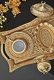 11 Teiliges Mokka Set - Goldfarben nach orientalischer Art 100000241556