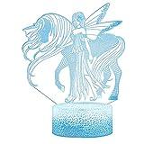 Lámpara de mesa 3D LED cambiable Luz nocturna Interruptor...