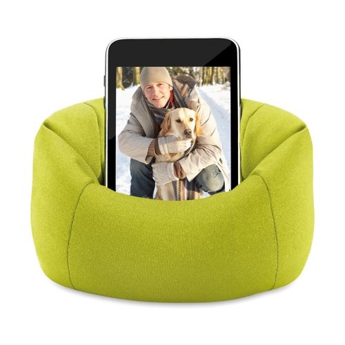 eBuyGB Sitzsack Sofa Pouch Fall für iPhone/iPod/Samsung Smartphone-Lime Green -