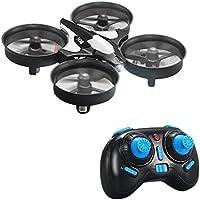 kingtoys® Mini RC Drone, JJRC H36 Mini UFO Drone 2.4G 4 canales 6 Eje Modo Quadcopter Distancia de Control de Modo RTF 2 Helicópteros, Negro
