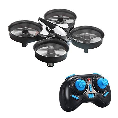 kingtoys® JJRC H36 Mini RC Drone UFO 2.4G 4CH 6 Assi Modalità Headless Telecomando Nano Quadcopter RTF Mode 2, Nero
