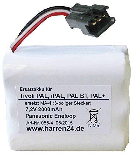 Ersatzakku (3-poliger Stecker) für Tivoli PAL, iPAL, PAL BT, PAL+, ersetzt Akkus PP-2 und MA-4, High Power dank Panasonic eneloop Zellen! (Radio Ipal)