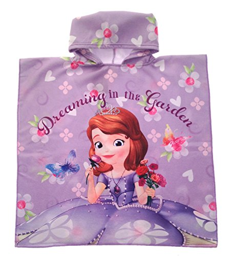Disney Sofia the First Hooded Poncho Beach Towel Swim Cover-Up Childrens Kids Girls One Size