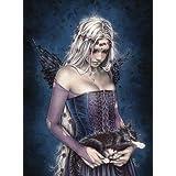 """Póster de Victoria Francés """"Angel of Death/ Ángel de la Muerte"""" (61cm x 91,5cm) + 2 marcos transparentes con suspención"""