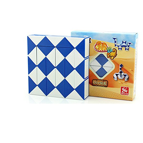 EasyGame - Magic Snake Würfel Twist Puzzle (Blau, 36) -
