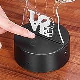 LEDMOMO 3D Lampe Nachtlicht Stimmungslicht Tischlampen Deko Herzen - 6