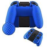 eXtremeRate® Blu Copertura Protettiva in Silicone Antiscivolo con Cappuccio per un Pizzico di un Paio per Nintendo Switch Joy Con Grip