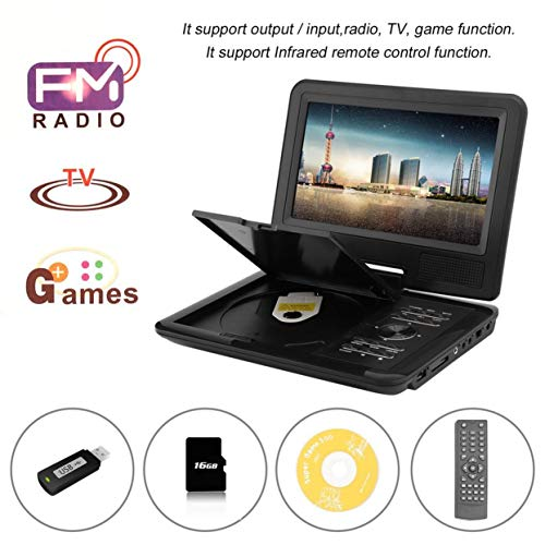 FJD-960 9 8-Inch DVD Player 270 Degrees Swivel Screen Portable Mobile DVD Player Digital Multimedia Player EVD With TV Tuner