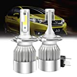 Mesllin C6 H4 LED Kit de faros High Low Beam 120W 20000LM 6000K Cool White Super brillante COB Chip...