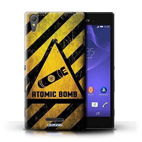 Coque de Stuff4 / Coque pour Sony Xperia T3 / Explosif Design / Signes de Danger Collection Bombe Atomique