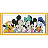 Benway Counted Cross Stitch Disney Friends 14Count 39x19CM
