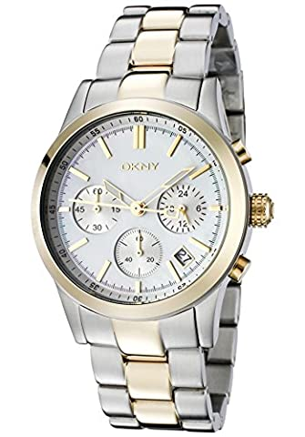 DKNY Chronograph Two-tone Bracelet Mother-of-pearl Dial Women's watch #NY8061
