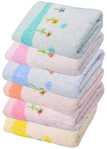 Kuchipoo-Baby-Wash-Cloth-Napkins-Hankies-Pack-of-6-Multicolor-26-cm-x-26-cm