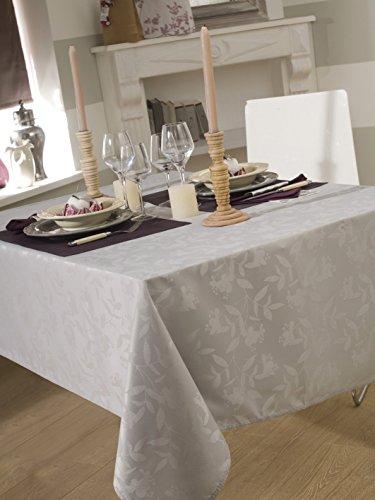 Mantel damassee ombra gris perla 150x 350