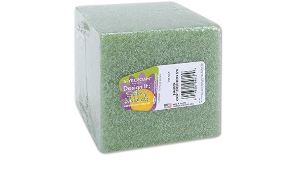 FloraCraft Styrofoam Block Green One Size