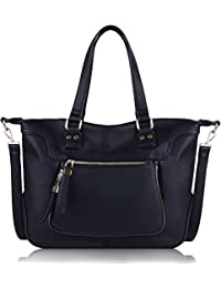 COOFIT Womens Large Tote Casual Artificial Leather Crossbody Shoulder Bag Purse