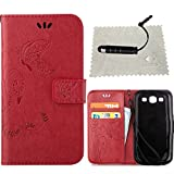 TOCASO Schmetterling Muster Rot Schutzhülle für Samsung