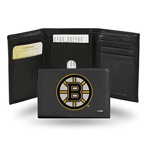 Rico NHL Anaheim Ducks Geldbörse, Leder, Bestickt, Herren, Boston Bruins -