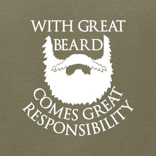 With Great Beard Comes Great Responsibility - Herren T-Shirt - 13 Farben Khaki