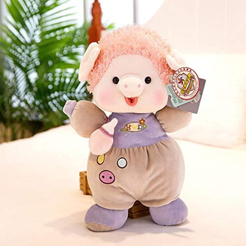 yfkgh Schnuller Schwein Figur, Plüschtier, Schnuller Schwein, Baby Komfort Puppe Puppe@Schnullerschweinchenfigur lila_50 cm - Schwein-schnuller