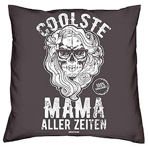 Geschenk für Mama Kissen : Coolste Mama aller Zeiten Farbe: anthrazit Geschenkidee Weihnachten Geburtstag Muttertag Weihnachtsgeschenk