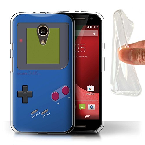 Stuff4® Gel TPU Hülle/Case für Motorola Moto G (2014) / Dunkelblau Muster/Videogamer/Gameboy Kollektion - Moto Motorola Gameboy G Case