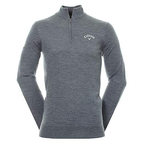Callaway Herren 1/4 Zip Blend Merino Sweater mädchen Pullover, Grau (Gris 038), Medium