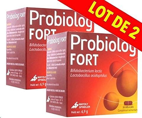 Mayoly Spindler - Probiolog FORT - Compléments alimentaires - Système digestif - lot de 2 boîtes de 30 Gélules.