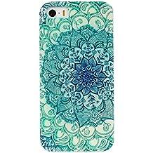 Malloom® más vendido estampado de flores prima La cubierta del caso de TPU caso trasero para iPhone 5 5s