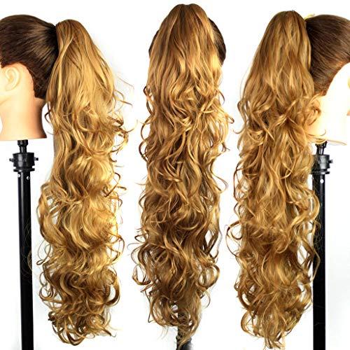 TianWlio Perücken DamenLanges Clip-In Lockig Klaue Kiefer Pferdeschwanz Clip In Haarverlängerungen Wellenförmiges Haarteil (Perücken Kaufen Pferdeschwanz)