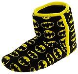 Footwear Studio Herren Wunderschöne Batman Textil Fleece Warm Boot Hausschuhe Schwarz EU 43