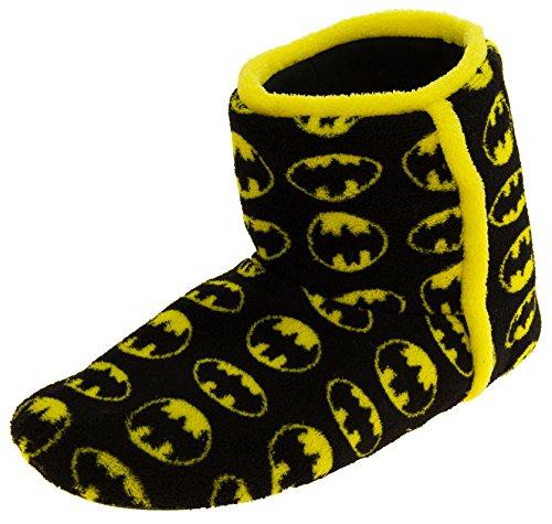 Herren Wunderschöne Batman Textil Fleece Warm Boot Hausschuhe Schwarz EU 44