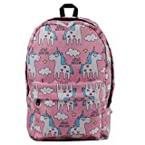 Best Moolecole Backpacks For Teen Girls - Moolecole Cute Unicorn Canvas School Backpack Lightweight Shoulder Review