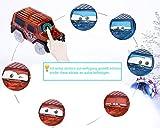 Autorennbahn Leuchtend für kinder ab 2 Jahre - HEYSAMO Magic Twister Tracks Set inklusive 220 Schienen (3m Lang) + 2 Blinken E-Autos, Neon Glow Spielzeug Rennbahn aus ABS Materialien, frei von BPA.