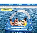 Aufblasbare Sich hin- und herbewegende Reihe des Swimmingpools im Freien, Schwimmring-Klubsessel-Sommer-großes Wasser aufblasbare Berge for4People -272 × 196cm